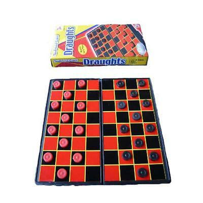 Mini Travel Magnetic Compact Draughts Board Game And Pieces - Folds Away
