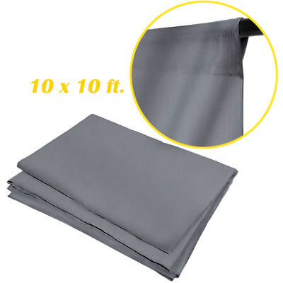 New Studio 10 x 10 Ft. Gray Muslin Photo Backdrop Photography Background