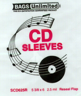 SCD625R CD Jewel Case Resealable Sleeve-100 Count