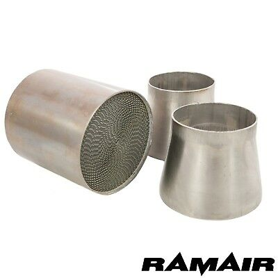 "Ramair 2.5"" 63.5mm Universal 200 Cell/CPSI High Flow Sports Catalytic Converter"