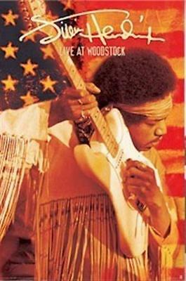 JIMI HENDRIX ~ LIVE AT WOODSTOCK ~ 24x36 MUSIC POSTER NEW/ROLLED! FRINGE SHIRT