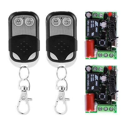 433Mhz DC 12V Rolling Gates Remote Control Switch 2Transmitter + 2Receiver HS737
