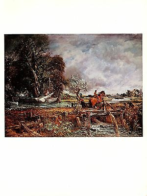 """1978 Vintage CONSTABLE /""""MOUND OF THE CITY OF OLD SARUM/"""" COLOR offset Lithograph"""