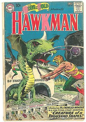 Brave and the Bold #34 GD+ 1st Appearance of Hawkman