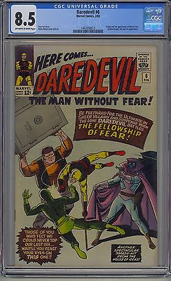 Daredevil #6 Cgc 8.5 Off-White To White Pages 1St Mister Fear Marvel
