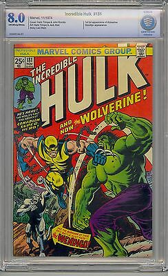 Incredible Hulk #181 Cbcs 8.0 Off-White Pages 1St Wolverine Marvel Not Cgc
