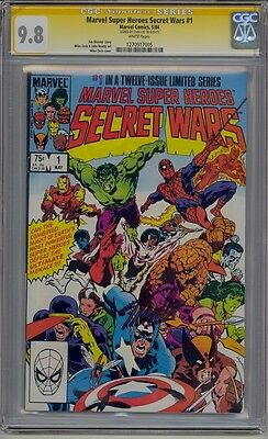 Marvel Super Heroes Secret Wars #1 Cgc 9.8 Ss White Pages Signed Stan Lee