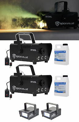 (2) Rockville R720L LED Fog/Smoke Machine+(2) MINI STROBE LED (replaces CH-730)