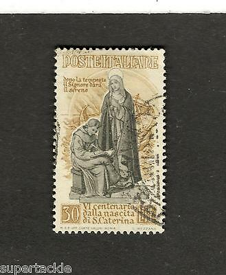 1948 Italy  Scott #492 St. Catherine of Sienna Θ used stamp