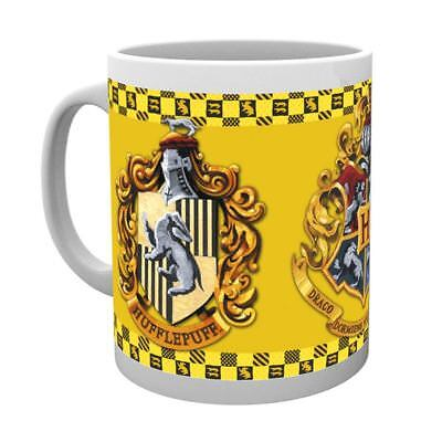 Official Harry Potter Hogwarts Hufflepuff House Crest Coffee Mugs - Boxed Gift