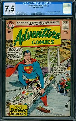 Adventure Comics 315 CGC 7.5 - OW/W Pages