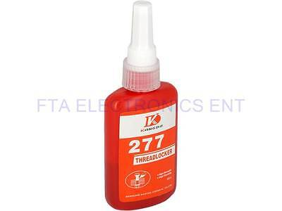 WD-277 Thread Locker 50ml High Viscosity High Strength Red Liquid Strong Loctite
