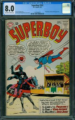 Superboy 103 CGC 8.0 - OW/W Pages
