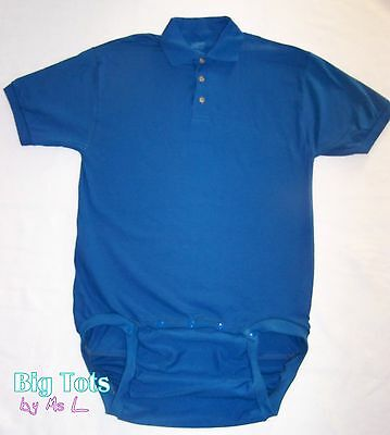 Adult Baby  POLO WEAR2WORK **5 Colors**  bodysuit  *Big Tots by MsL