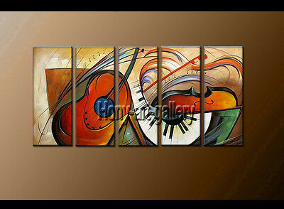 Large Wall Art Framed MODERN ABSTRACT OIL PAINTING on Canvas Contemporary set113