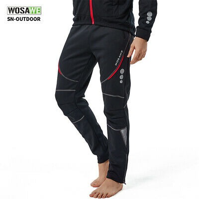 2017 Men' Winter Bicycle Trousers Fleece Thermal Long Pants Cycling Tights Cycle