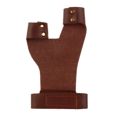 Cow Leather Archery Hunting Hand Protector Guard Shooting 2 Finger Glove