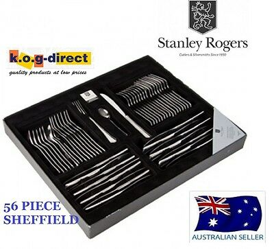 56 Piece Cutlery Set Stainless Steel STANLEY ROGERS SHEFFIELD NEW RRP $249