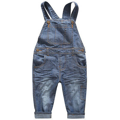 Fashion Cotton Baby Boys and Girls Jeans Straight Kids Pants For 2-10 Years Old