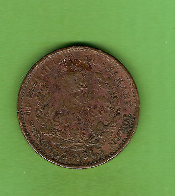 #d208. 1813 Essequibo & Demerary (British Guiana) Copper Stiver Coin