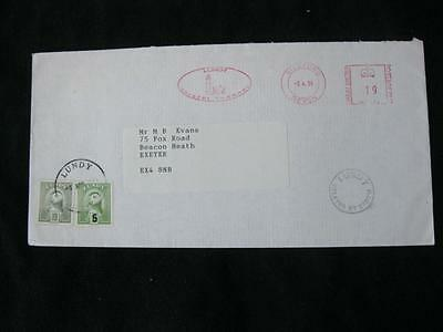 Lundy Stamps On 1994 Cover