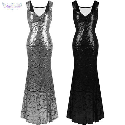 Angel-fashions Women s Sequin Mermaid Long Evening Dress Formal Dress Party  297 57745af5d