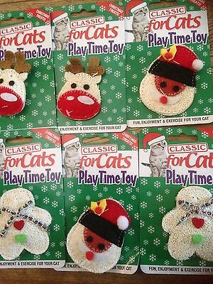 Classic For Cats xmas Playtime Loofah Toys With Catnip Christmas Cat Toys