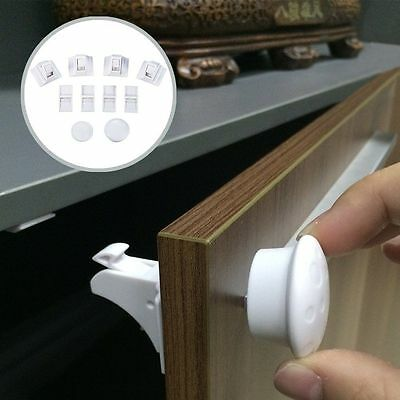 Invisible Magnetic Baby Child Pet Proof Cupboard Door Drawer Safety Lock