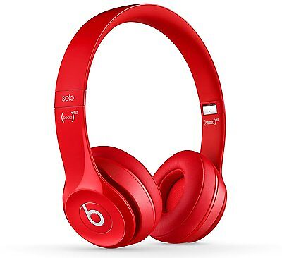 Beats by Dr Dre Solo2 B0518 Wired On-Ear Headphones with Microphone - Red A
