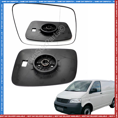 Right Driver side Wide Angle Wing mirror glass for VW T4 1990-2003 Manual