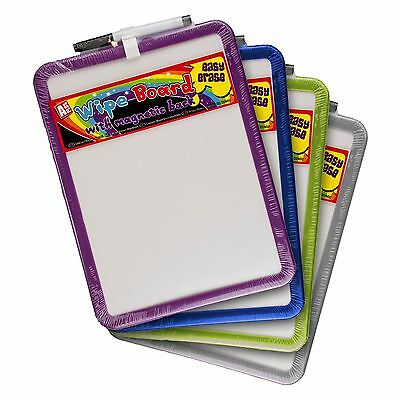 Magnetic Dry Wipe White Board Black Marker Pen Kitchen Home Office Note Memo Pad