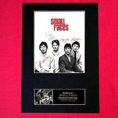 SMALL FACES Mounted Signed Photo Reproduction Autograph Print A4 257