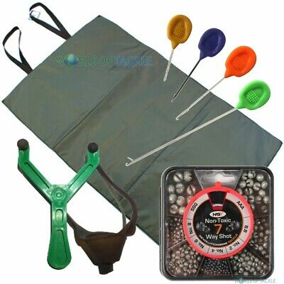 Unhooking Mat Baiting Needles Catapult and 8 Way Shot for Coarse Fishing
