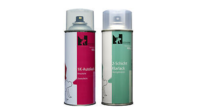 Spray Jaguar MEN-2130 Rhodium Silver Basislack+Klarlack (2x400ml-2-Schicht-Set)