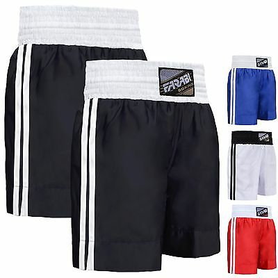 Farabi Boxing Shorts Trunks Kick Boxing MMA Training Gym Men Red Blue Black Whit