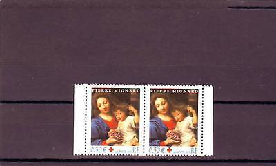 a104 - FRANCE - SG3932 MNH 2003 RED CROSS FUND - CHRISTMAS - PAIR