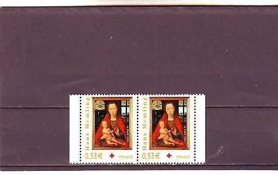 a104 - FRANCE - SG4137 MNH 2005 RED CROSS FUND - CHRISTMAS - PAIR