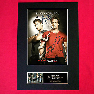 SUPERNATURAL Mounted Signed Photo Reproduction Autograph Print A4 136
