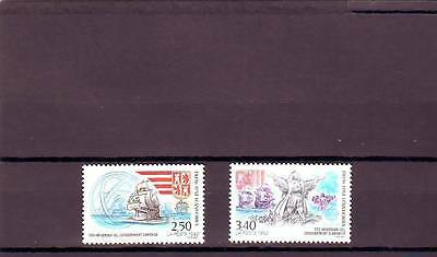 ANDORRA(FRENCH) - SGF459-460 MNH 1992 EUROPA - 500th ANNIV DISCOVERY OF AMERICA