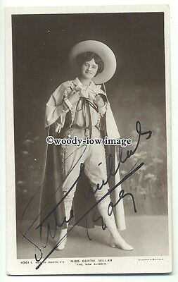 b3373 - Stage Actress - Gertie Millar - Autographed postcard
