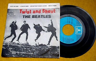 """The BEATLES twist and shout EP  SPANISH REISSUE (EX/VG) 45 single  7""""Ç"""