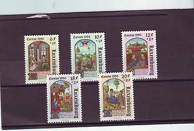 Luxembourg - Sg1192-1196 Mnh 1986 Book Of Hours - Welfare Fund