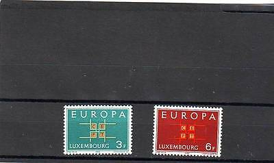 Luxembourg - Sg730-731 Mnh 1963 Europa - Co-Operation
