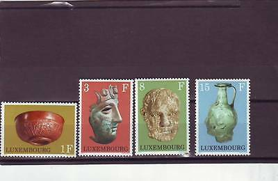 Luxembourg - Sg886-889 Mnh 1972 Gallo-Roman Exhibits