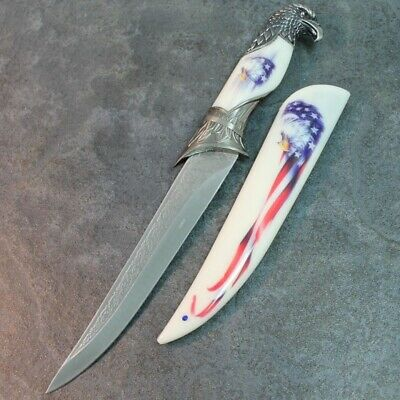 """13"""" Eagle Dagger Fixed Blade Hunting Knife With Scabbard 210484-US"""