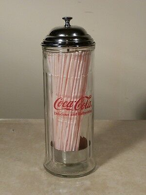 1992 Coca-Cola Collectible Straw Dispenser / Holder Nice
