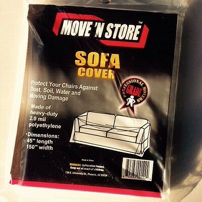 PLASTIC SOFA COUCH COVER FOR MOVING AND STORAGE(2.0 Mil)