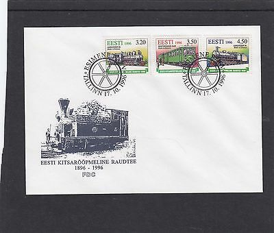 Estonia 1997 Railways First Day Cover FDC Tallin special h/s