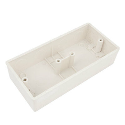 White Moulded 2 Gang Flush Mount Wall Switch Pattress Box 167x77x38mm