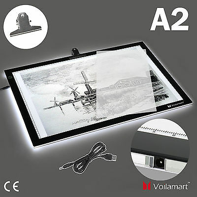 A2 LED Tracing Light Box Drawing Art Tattoo Stencil Board UltraThin Lightbox Pad